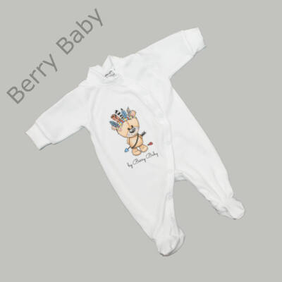Rugdalózó kezeslábas hazahozós újszülött ruha: 50- BEAR