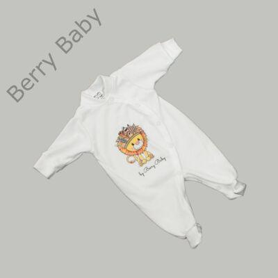 Rugdalózó kezeslábas hazahozós újszülött ruha: 50- LION
