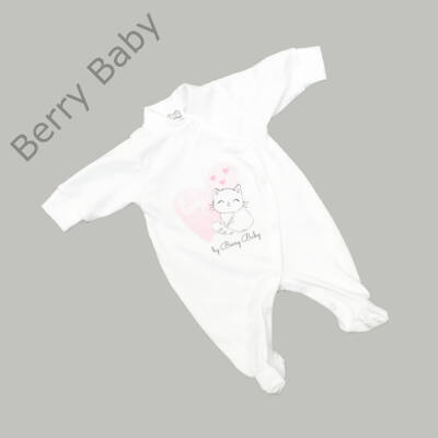 Rugdalózó kezeslábas hazahozós újszülött ruha: 56- LOVELY CAT
