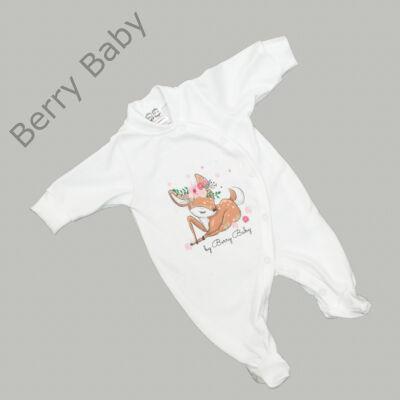 Rugdalózó kezeslábas hazahozós újszülött ruha: 56- BAMBI