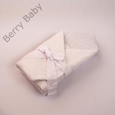 Berry Baby Keresztelő Pólya: fehér madeirás
