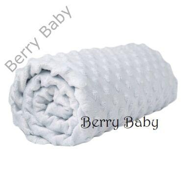 Fehér minky babapléd-takaró