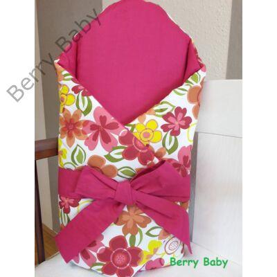 Pink virágos kókuszpólya