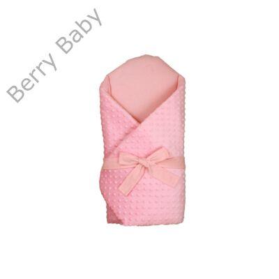 Berry Baby Kókusz pólya kivehető gerinctámasszal: selymes babarózsaszín Minky- rózsaszín belsővel