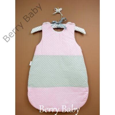 Pamut baba hálózsák- rózsaszín pöttyös- szürke pöttyös - Baba Pamut ... 2be51c8691