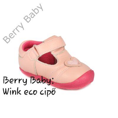 Wink eco- első kiscipő és gyerekcipő- BARACK SZÍVES nyitott cipő: 17-es méret