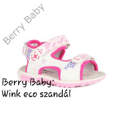 Wink eco- nyitott orrú lány szandál- FEHÉR- PINK : 22-es méret