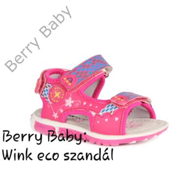 Wink eco- nyitott orrú lány szandál- PINK : 22-es méret