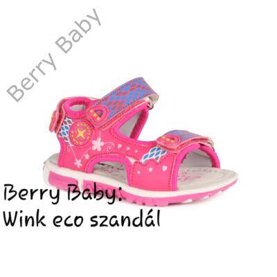 Wink eco- nyitott orrú lány szandál- PINK : 20-as méret