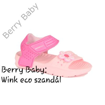 Wink eco- nyitott orrú lány szandál- Rózsaszín- pink : 24-es méret
