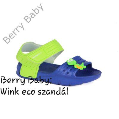 Wink eco- nyitott orrú fiú szandál- Kék- Zöld : 28-as méret