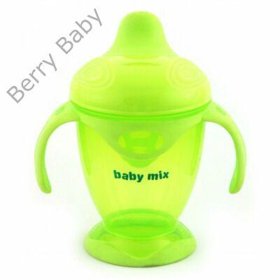 Baby Mix csöpögésmentes itatópohár: zöld