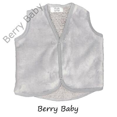 Szürke-báránybőr szerű belső oldallal Berry Baby mellény 2-3 év