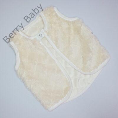 Kívül szőrös Berry Baby mellény 0-6 hó-ekrü