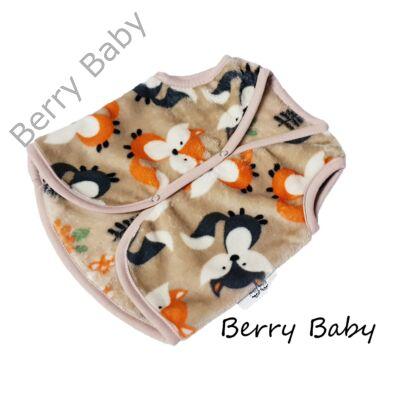 Berry Baby wellsoft mellény - Kávé kisrókás  2-3 éveseknek