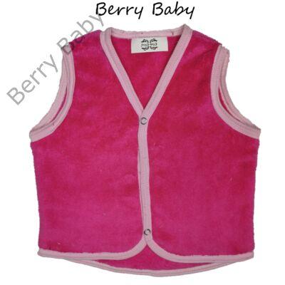 Berry Baby wellsoft mellény- pink 0-6 hó
