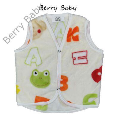 Berry Baby wellsoft mellény - Színes betűs 6-12 hós