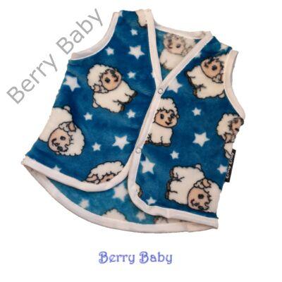 Berry Baby wellsoft mellény - Kék bárányos 1-2 éveseknek