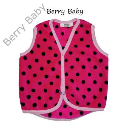 Berry Baby wellsoft mellény - Pink alapon fekete pöttyös 6-12 hós