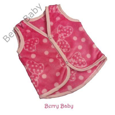 Berry Baby wellsoft mellény - Pink masnis 1-2 éveseknek