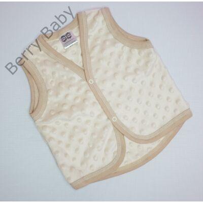 Mogyoró minky Berry Baby mellény 6-12 hós