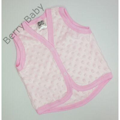 Rózsaszín minky Berry Baby mellény 6-12 hós