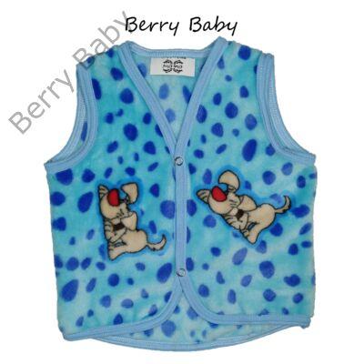 Berry Baby wellsoft mellény - Kék kiskutyás 6-12 hós