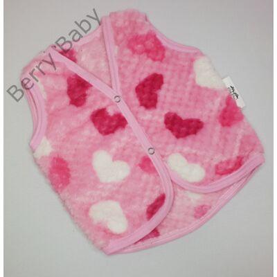 Berry Baby wellsoft mellény - Rózsaszín szíves 0-6 hó
