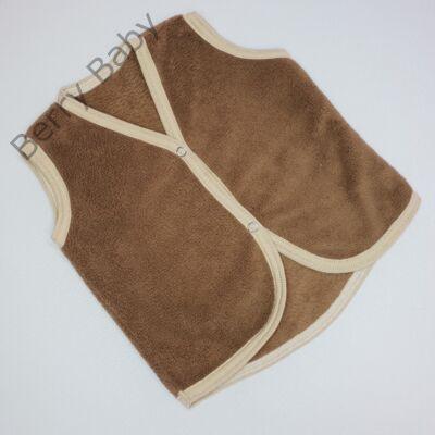 Berry Baby wellsoft mellény - Barna 0-6 hó