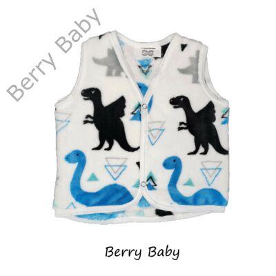 Berry Baby kék dínós wellsoft mellény 2-3 év