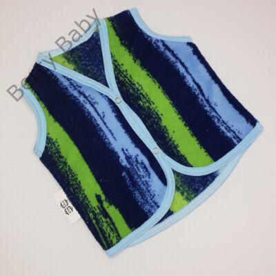 Berry Baby wellsoft mellény- kék-zöld csíkos 0-6 hó