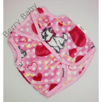 Berry Baby wellsoft mellény - Rózsaszín cicás  1-2 éveseknek