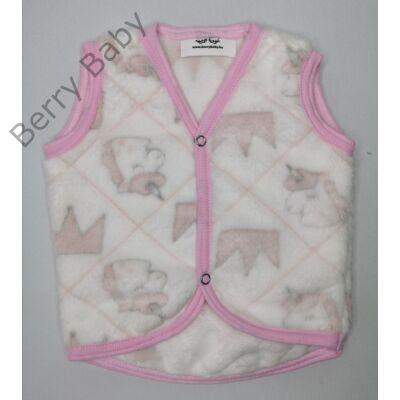 Berry Baby wellsoft mellény- fehér alapon unikornis 0-6 hó