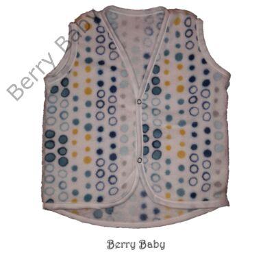 Berry Baby wellsoft mellény - Fehér alapon kék karikás 6-12 hós
