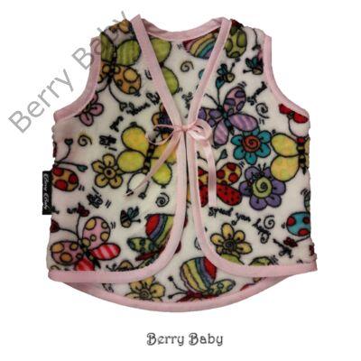 Berry Baby wellsoft mellény - Színes pillangós szalaggal 0-6 hó