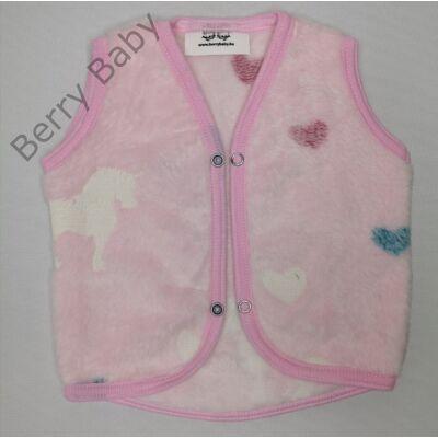Sötétben világító Berry Baby wellsoft mellény 6-12 hós: rózsaszín unikornis