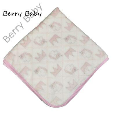 Berry Baby Wellsoft babapléd: hófehér- koronás