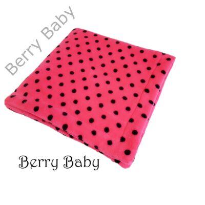 Wellsoft babapléd  pink alapon fekete pöttyös - Wellsoft babaplédek ... 767ce705a1