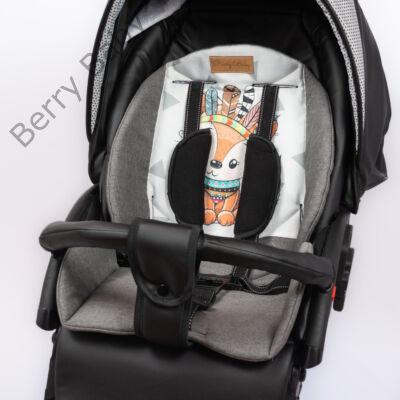 Zizi babakocsi alátét: FOX grafit kisrókás