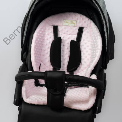 Berry Baby Zizi babakocsi alátét: rózsaszín minky