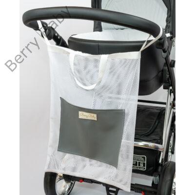 Berry Baby bevásárló táska babakocsira: fehér hálós