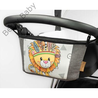 Berry Baby Comfort babakocsi tároló Grafit - Wild and Free oroszlán