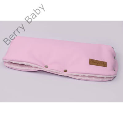 Babakocsira rögzíthető Berry Baby kesztyű-  ECO bőr: candy (univerzális)