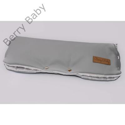 Babakocsira rögzíthető Berry Baby kesztyű: szürke+szürke minky belső (univerzális)