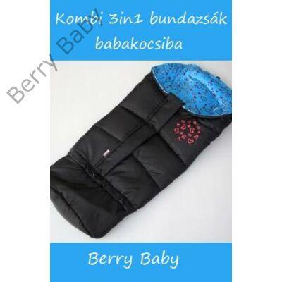 Berry Baby Kombi 3in1 bundazsák babakocsiba: kék szives