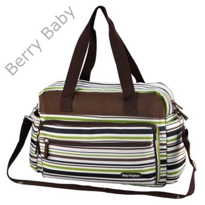 Sailor pelenkázó táska: fehér-zöld csíkos