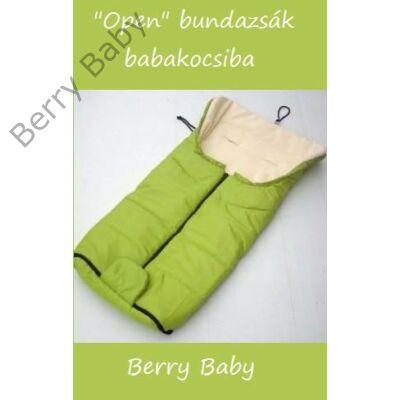 Berry Baby Open bundazsák babakocsiba: zöld