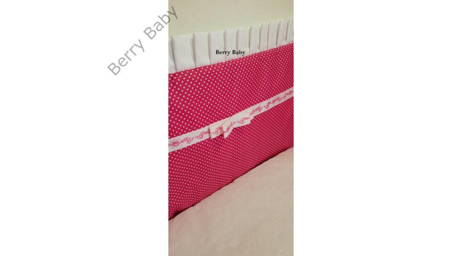 3 részes ágynemű szett (bővíthető)  Pink pöttyös 7b6442cf5d