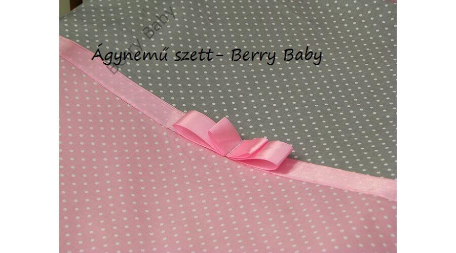 3 részes ágynemű szett (bővíthető)  rózsaszín pöttyös-szürke pöttyös ... f667622337