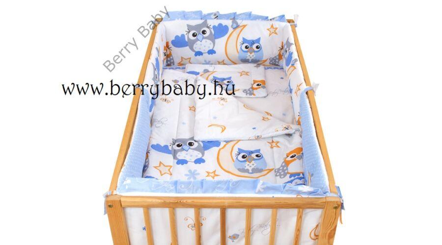 AKCIÓS  Kék nagy baglyos babaágynemű szett (bővíthető) - AKCIÓS-3 ... 246d4f5ac8